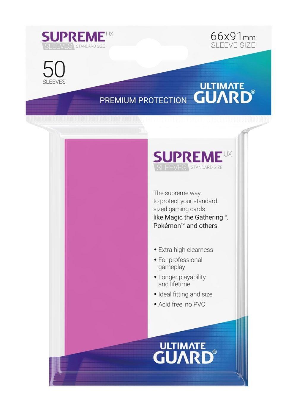 Ultimate Guard Koszulki Supreme UX Standard Różowe (50) - 1