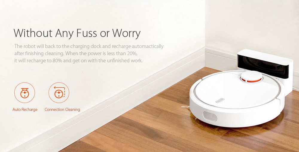 Xiaomi MIJIA 1C Robot Vacuum Cleaner for Home with Cleaning Tools - 8