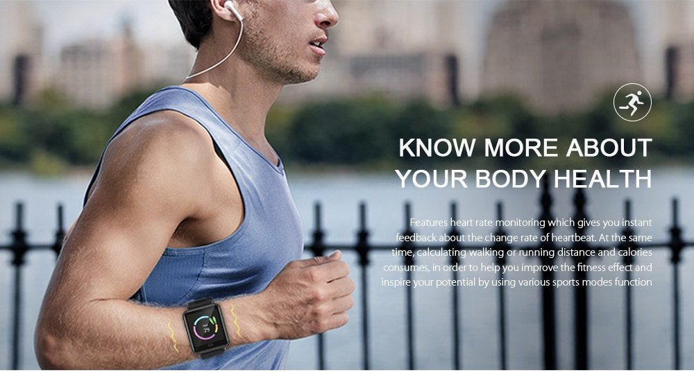 Q9 Waterproof Smart Watch for Android / iOS with Heart Rate Monitor & Blood Pressure Functions - 6