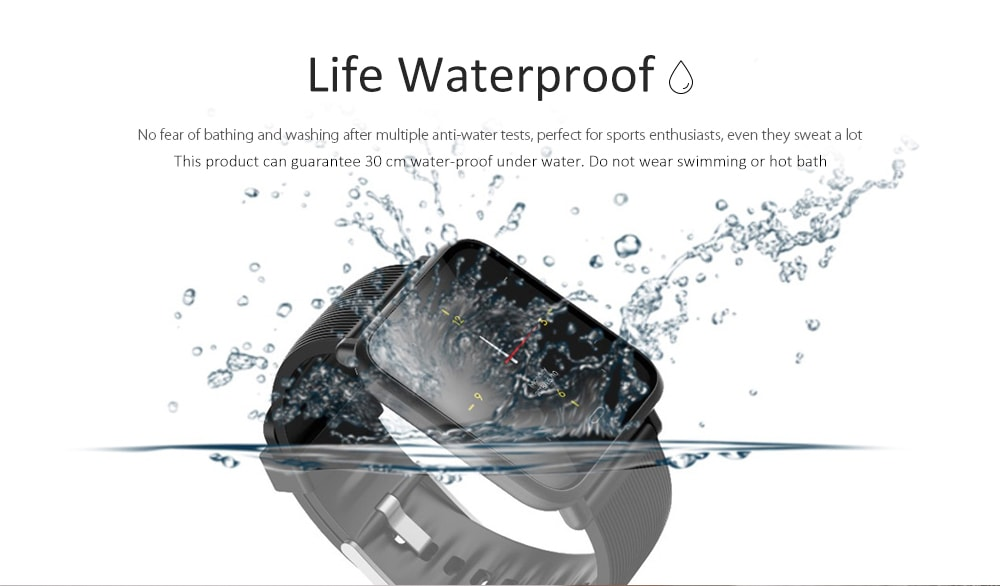 Q9 Waterproof Smart Watch for Android / iOS with Heart Rate Monitor & Blood Pressure Functions - 2