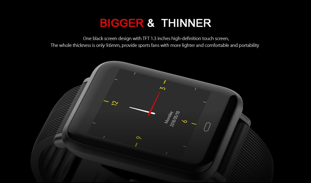 Q9 Waterproof Smart Watch for Android / iOS with Heart Rate Monitor & Blood Pressure Functions - 4