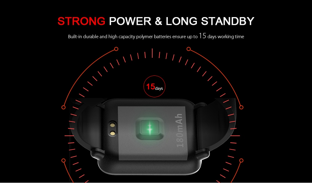 Q9 Waterproof Smart Watch for Android / iOS with Heart Rate Monitor & Blood Pressure Functions - 5