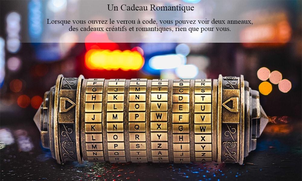 Romantic Gift Da Vinci Code Lock - 4