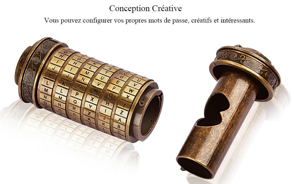 Romantic Gift Da Vinci Code Lock - 2