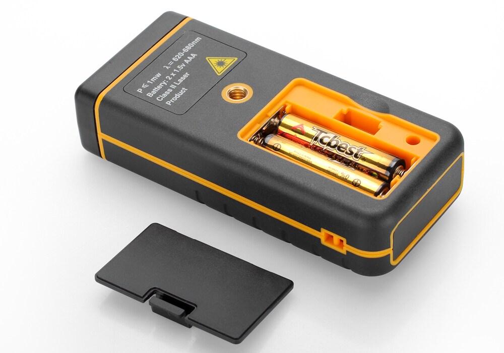 Digital Laser Tape Measure - 0.05 To 100 Meter Range, Spirit Level, IP54, 1/4 Inch Tripod Thread, Carry Case - 6