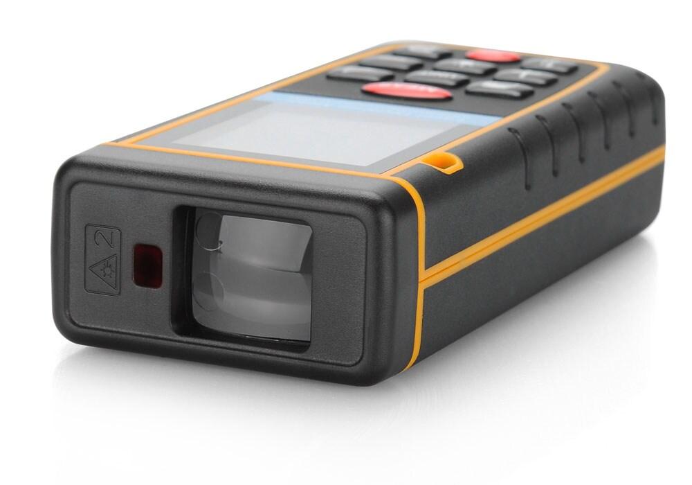 Digital Laser Tape Measure - 0.05 To 100 Meter Range, Spirit Level, IP54, 1/4 Inch Tripod Thread, Carry Case - 2