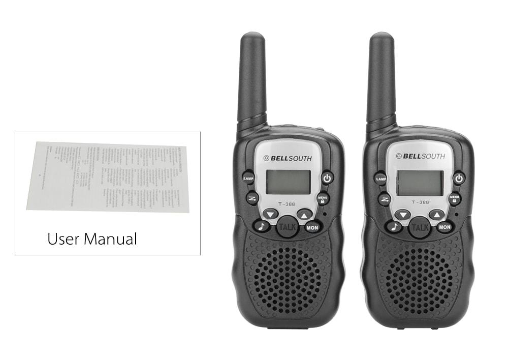 Walkie Talkie - 5 To 8KM Range, 22 USA Channels, 8 Europe Channels, Flash Light, Battery Indicator - 8
