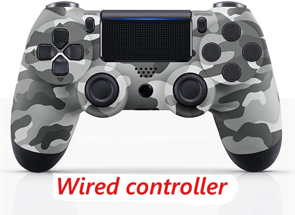 PS4 Wired Controller Dual Shock 4 Gamepad For Sony Playstation 4 Gray Camouflage - 1
