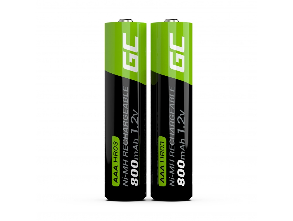 GC® 2x AAA rechargeable batteries HR03 800mAh Green Cell - 4