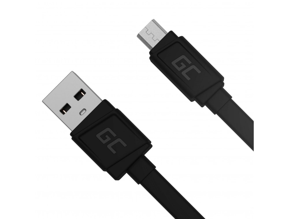 GC® Cable GCmatte Micro USB Flat 25 cm with QC Quick Charge 3.0 fast charging AFC for Samsung Huawei LG PS4 - 2