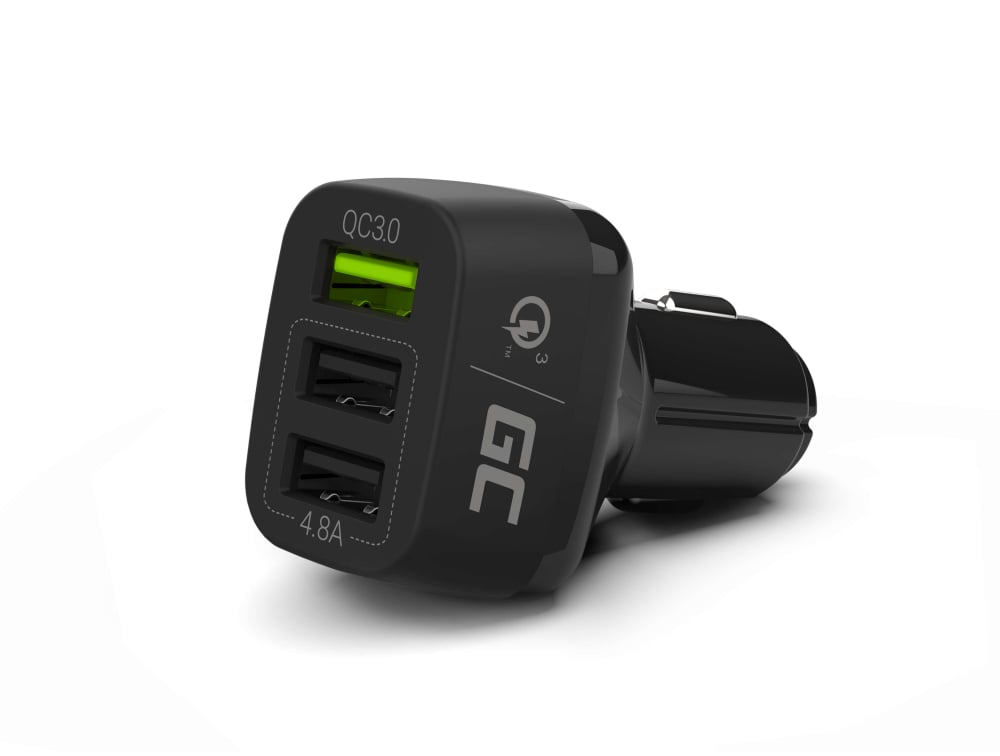 GC® Car Charger 42 W 3-Port USB 3.0 Car Charger QC Quick Charge for iPhone iPad Samsung HTC Huawei LG Xiaomi - 1