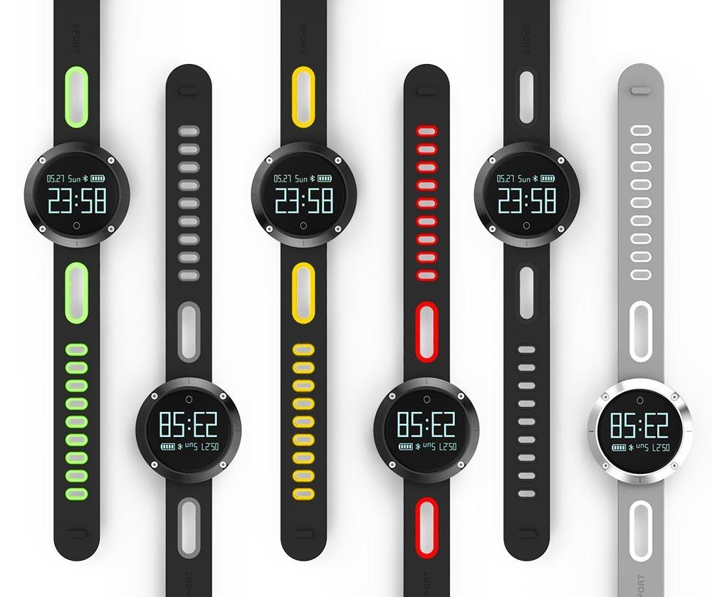 DOMINO DM58 0.95 Inch Round Display Screen Smart Bracelet Heart Rate Monitor Sport Wristband Fitness Tracker Black - 1