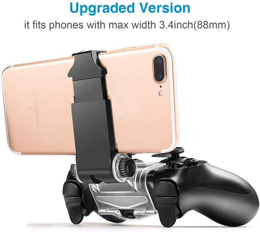 270x Degree PS4 Wireless Controller Phone clip Mountx Holder Stand Bracket Compatible with PS4 Pro/Slim Dualshock 4 Black - 3