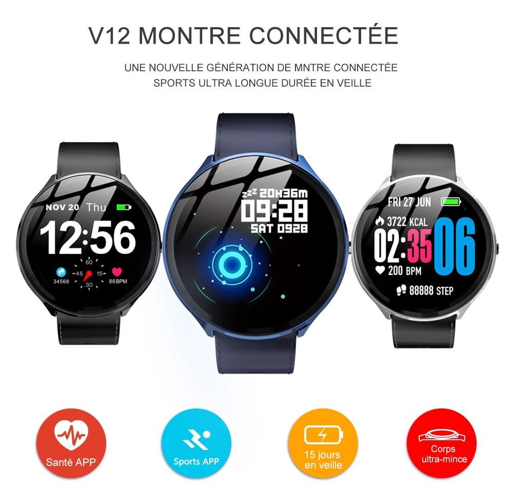 Mbtaua-Watch KOSPET V12 Waterproof Smart Watch - 1