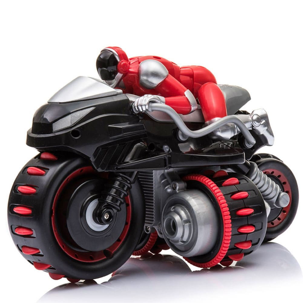 1pcs Remote Control 360° Rolling Motorcycle Toys with Music Sound for Boys Birthday Christmas Gift - 1