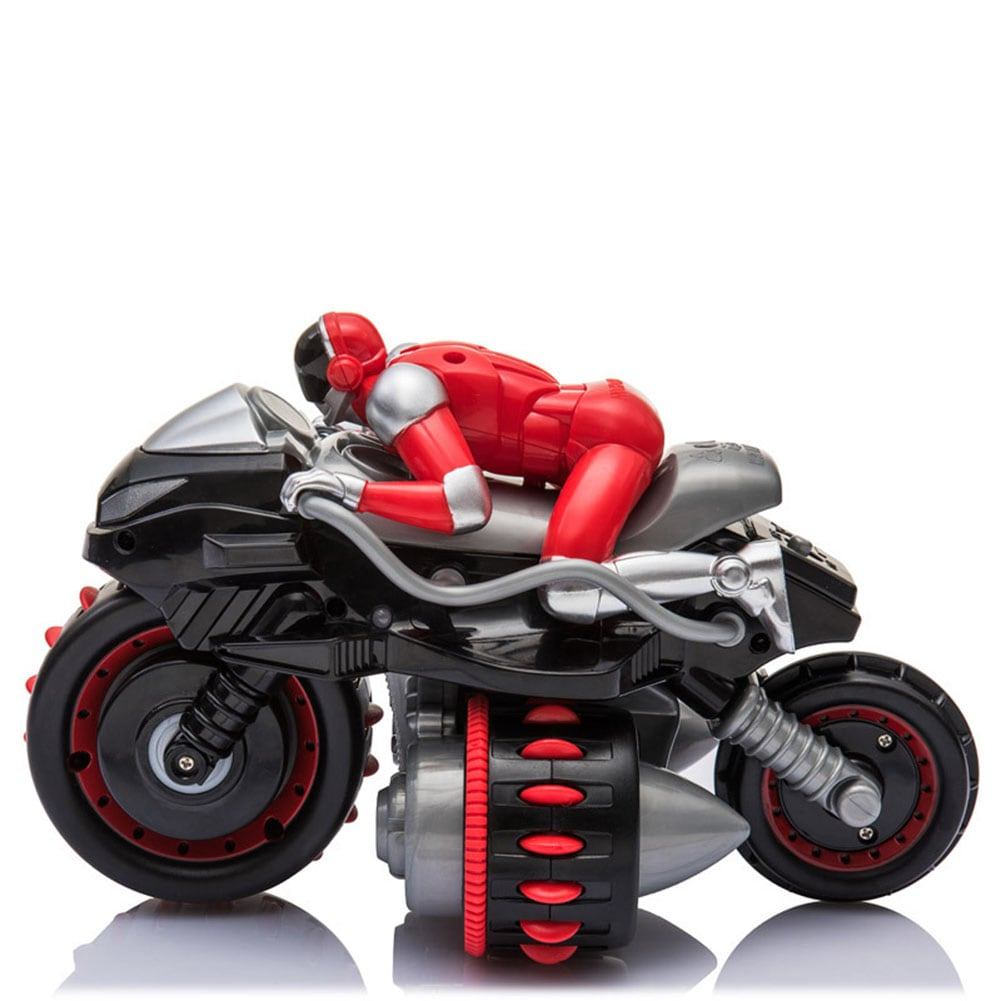 1pcs Remote Control 360° Rolling Motorcycle Toys with Music Sound for Boys Birthday Christmas Gift - 3