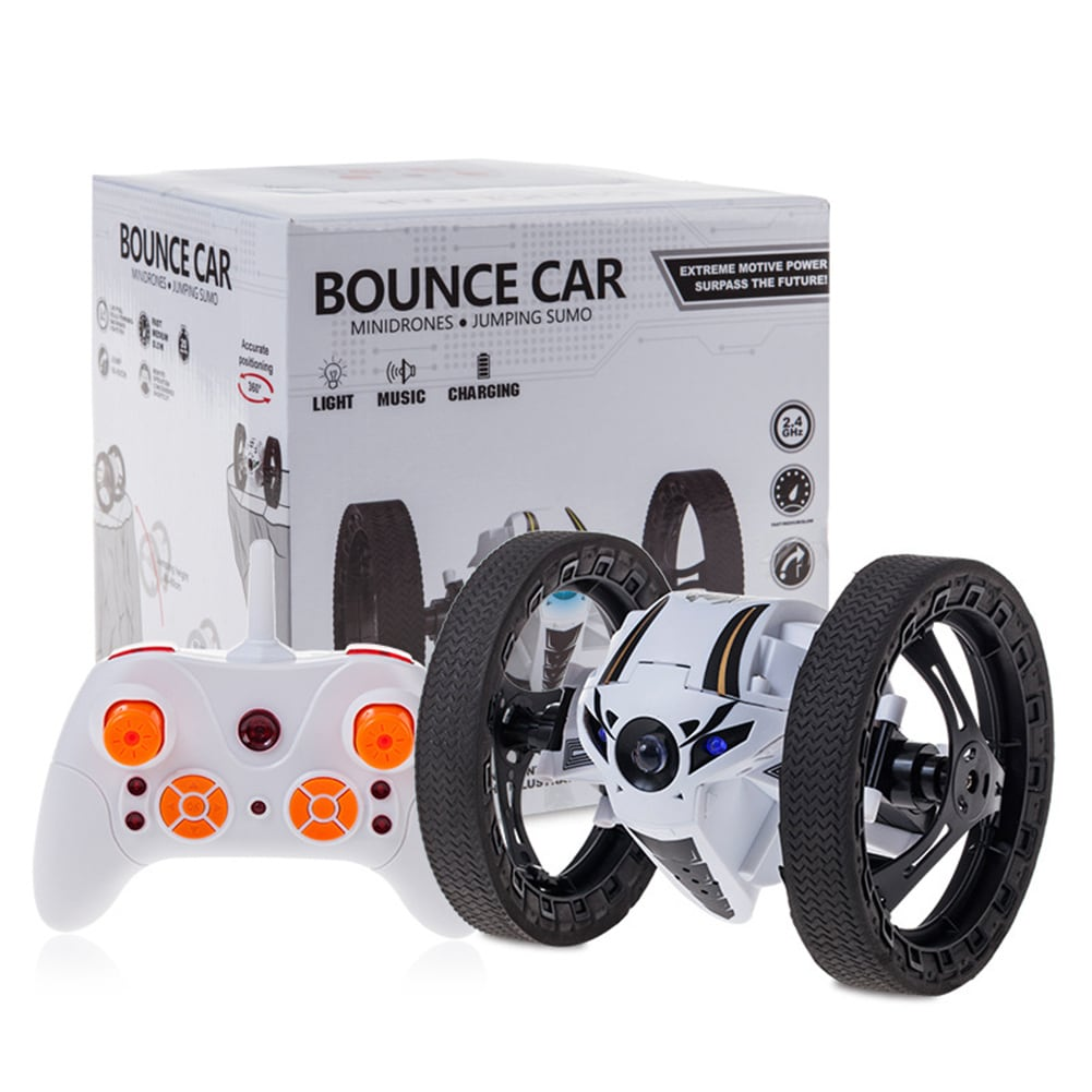 2.4GHz 4CH Remote Control Mini RC Bounce Car Jumping Sumo Car 360 Degree Rotation w/ LED Light and Music - 1