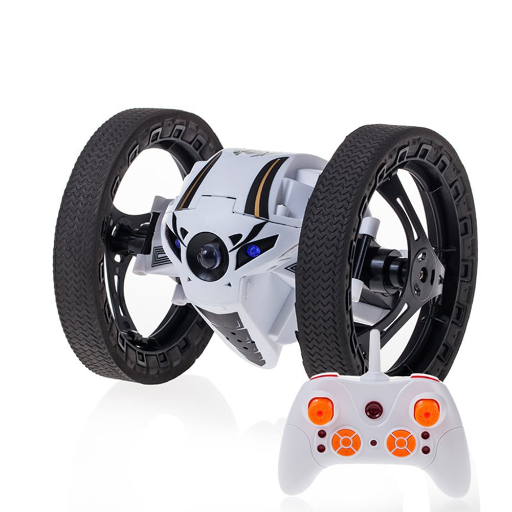 2.4GHz 4CH Remote Control Mini RC Bounce Car Jumping Sumo Car 360 Degree Rotation w/ LED Light and Music - 4