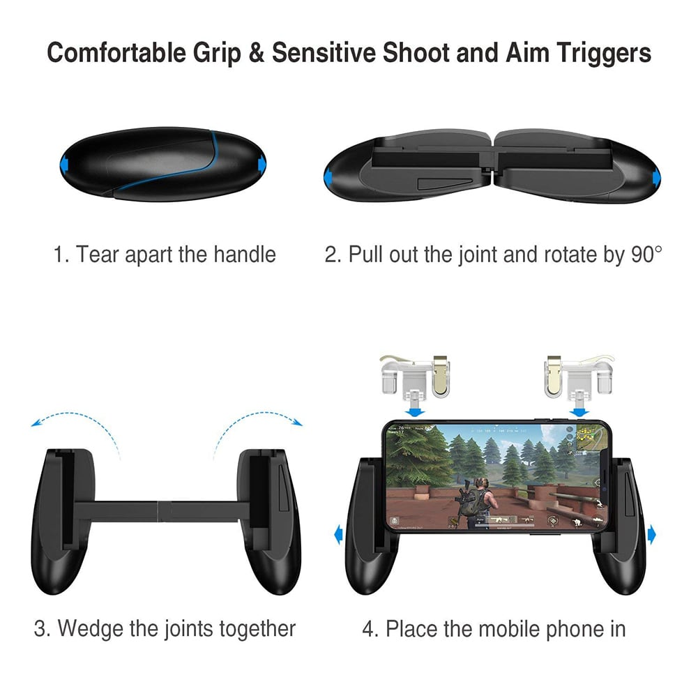 Accreate Gamepad for Knives Out PUBG Mobile Phone Shoot Game Controller L1R1 Shooter Trigger Fire Button 3 - 7