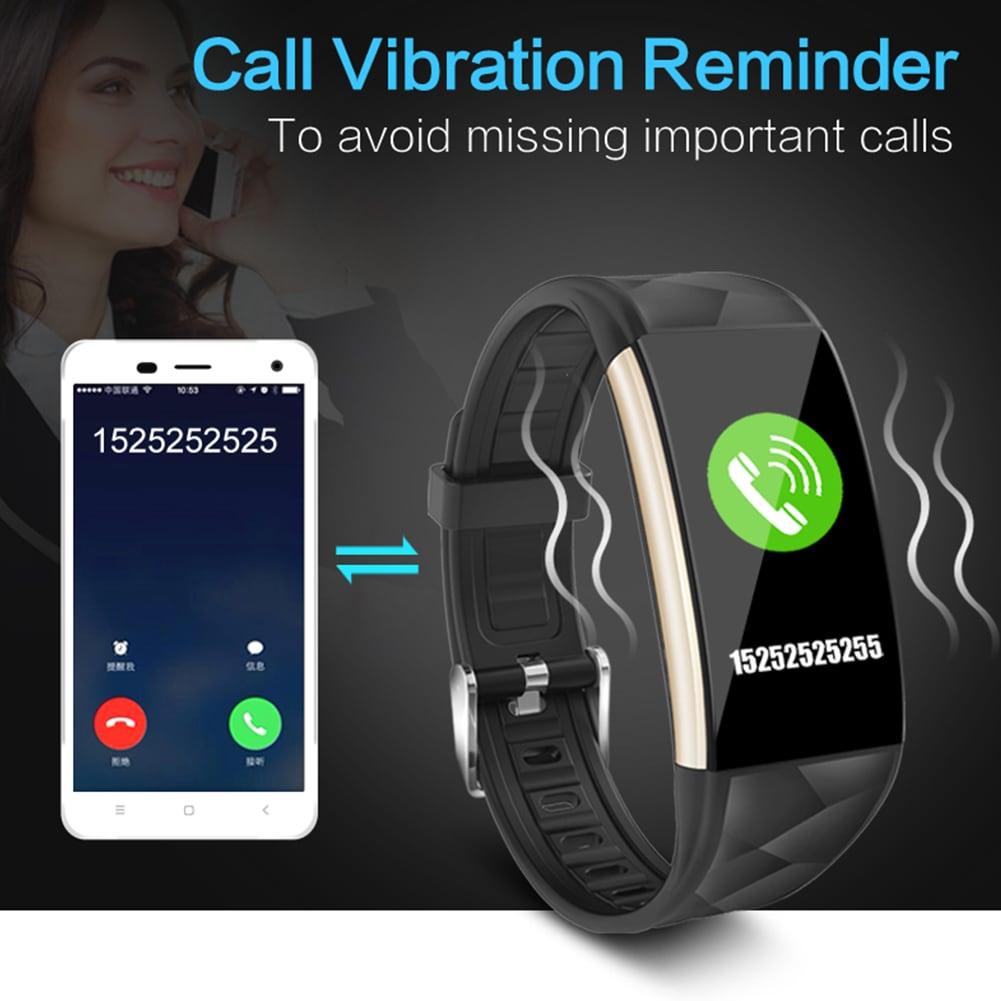 Black Smart Watch Bracelet T20 - Waterproof, Colorful Screen, Heart Rate Blood Pressure - 3