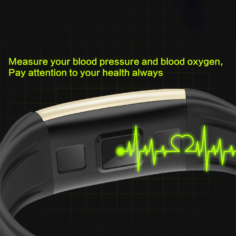 Black Smart Watch Bracelet T20 - Waterproof, Colorful Screen, Heart Rate Blood Pressure - 4