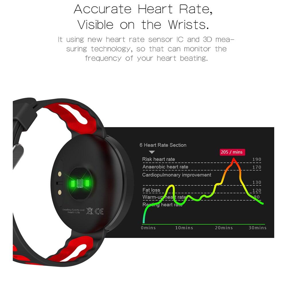 DOMINO DM58 0.95 Inch Round Display Screen Smart Bracelet Heart Rate Monitor Sport Wristband Fitness Tracker Black - 9