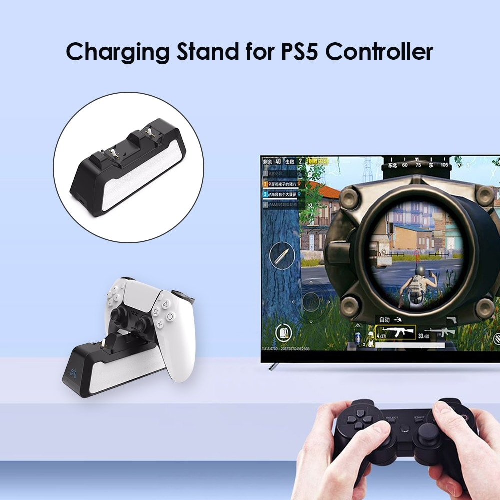 Dual Fast Charging Station for PlayStation 5 controllers USB 3.1 / Type-C Black - 3