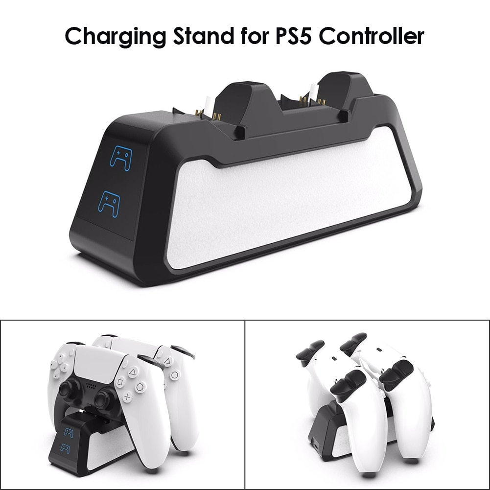 Dual Fast Charging Station for PlayStation 5 controllers USB 3.1 / Type-C Black - 5