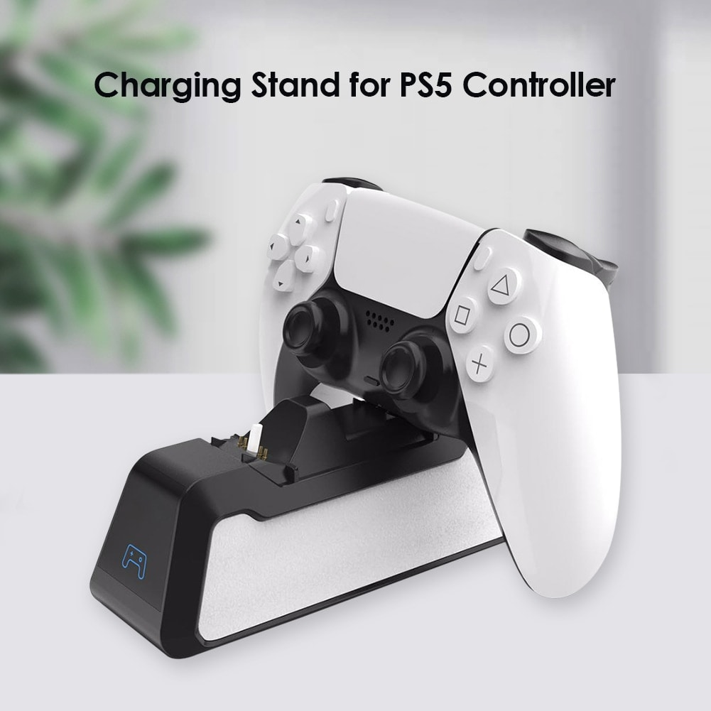 Dual Fast Charging Station for PlayStation 5 controllers USB 3.1 / Type-C Black - 4