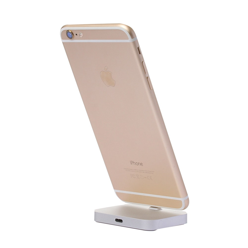 Lightning Charger Charging Dock Station Gold For Apple iPhone Aluminum Alloy - 4