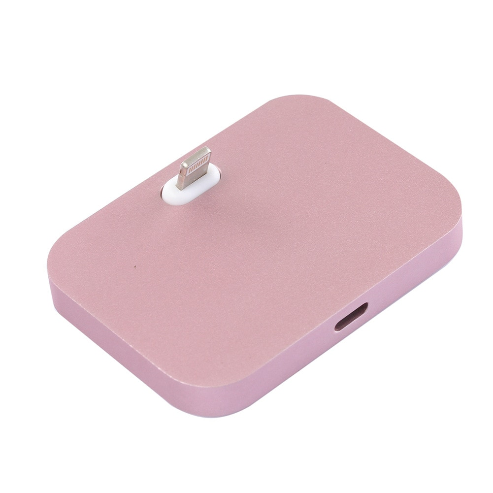 Lightning Charger Charging Dock Station Gold For Apple iPhone Aluminum Alloy - 9