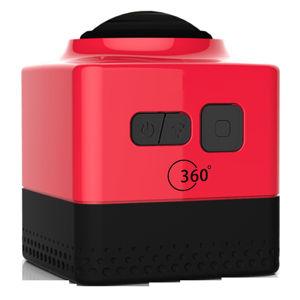 Mini WiFi 360 Degree Panoramic Wide Angle Action Camera Sports Cam Recorder with Standard 1/4 Screw Interface Red - 5
