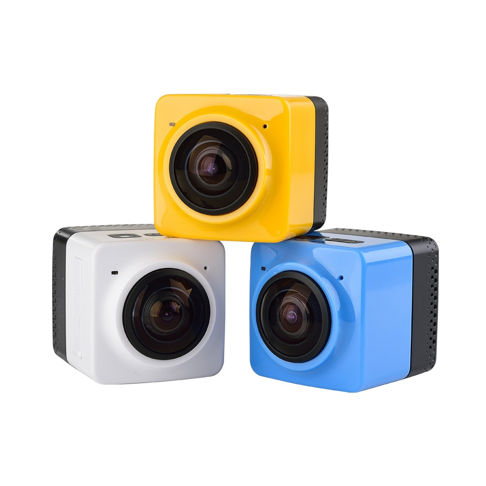 Mini WiFi 360 Degree Panoramic Wide Angle Action Camera Sports Cam Recorder with Standard 1/4 Screw Interface Yellow - 1
