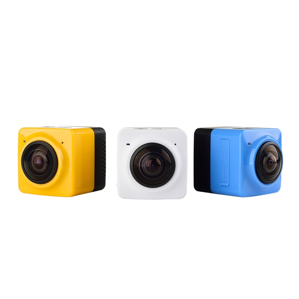 Mini WiFi 360 Degree Panoramic Wide Angle Action Camera Sports Cam Recorder with Standard 1/4 Screw Interface Yellow - 2