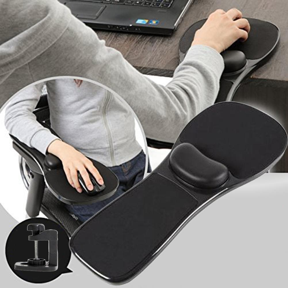Mouse Pad Elbow Arm Rest Support Chair Desk Armrest Home Office Wrist Mouse Pad alfombrilla raton Black - 2