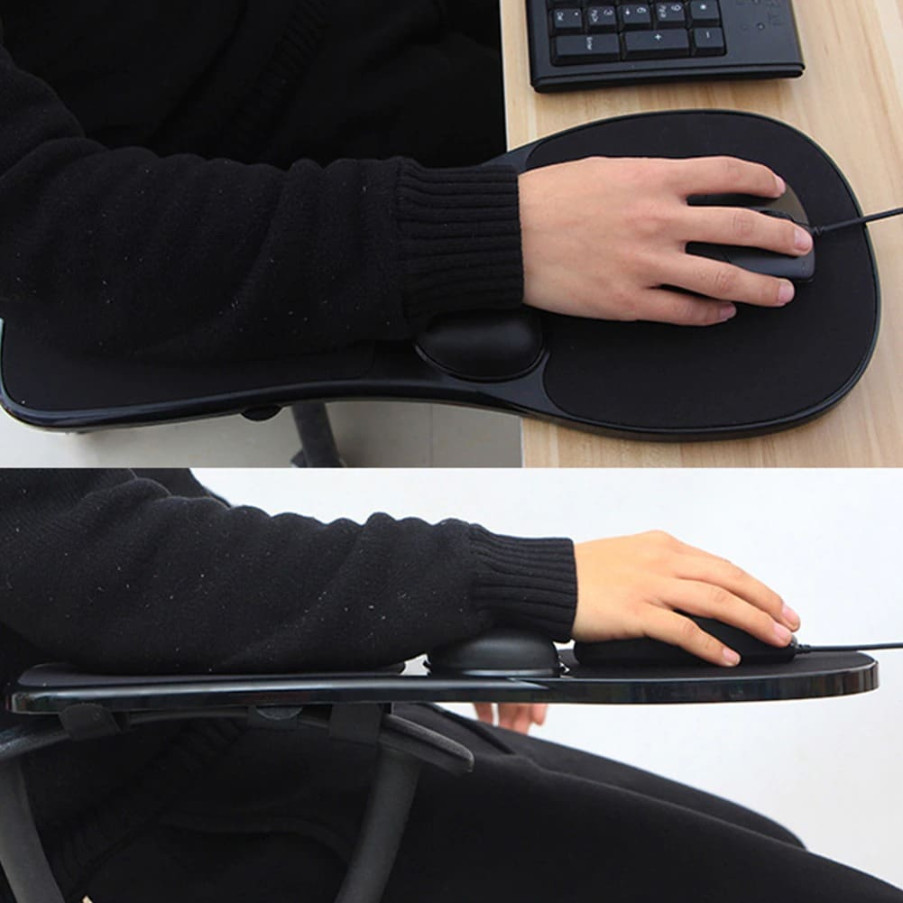 Mouse Pad Elbow Arm Rest Support Chair Desk Armrest Home Office Wrist Mouse Pad alfombrilla raton Black - 3