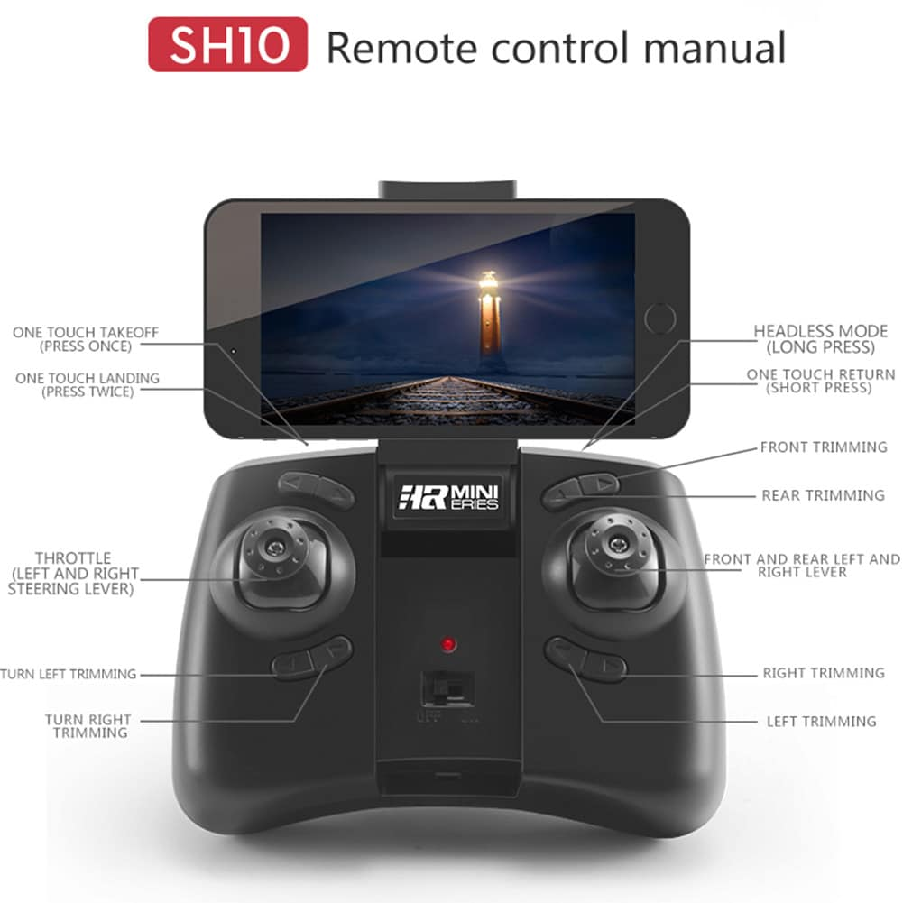 SH10 Mini RC WIFI Quadcopter Set Height Aircraft Drone with HD Camera - 4