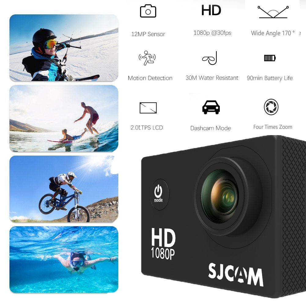 SJCAM SJ4000 12MP Action Camera Underwater Camera Sport Camcorder Red - 2
