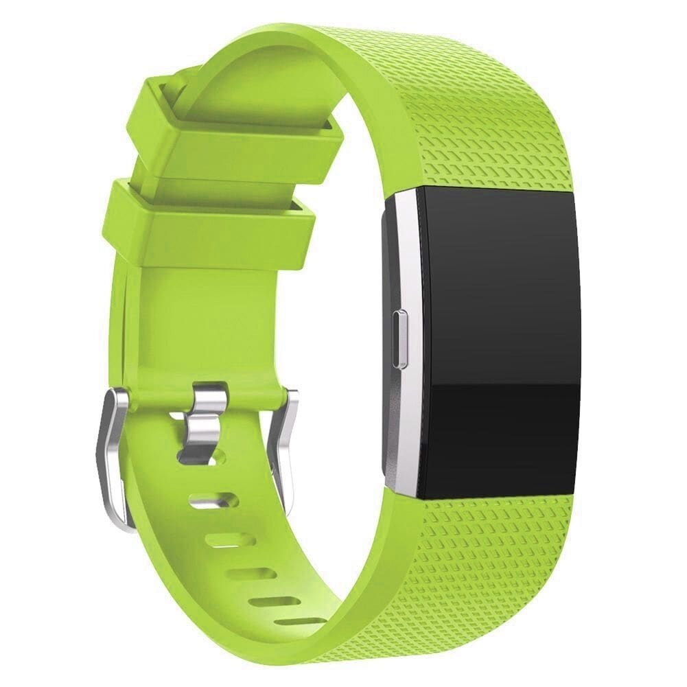 Soft Silicone Wrist Strap Watchband For Fitbit Charge 2 Replacement Watch Band Green - 6