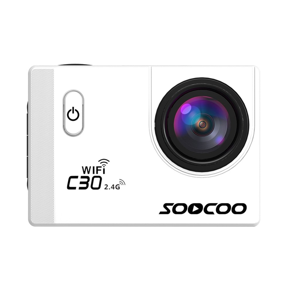 SOOCOO C30R Wifi 4K Sports Action Camera - Gyro 2.0 inch, LCD Screen, 30M Waterproof, Adjustable Angle Blue - 2