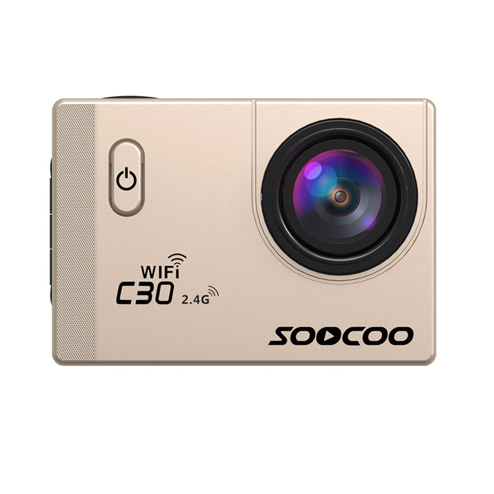 SOOCOO C30R Wifi 4K Sports Action Camera - Gyro 2.0 inch, LCD Screen, 30M Waterproof, Adjustable Angle Gold - 3
