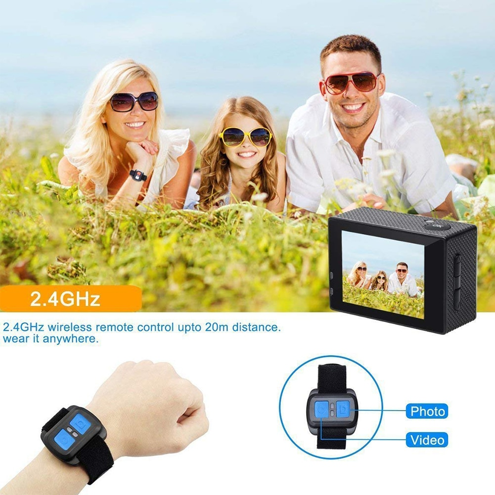 SOOCOO C30R Wifi 4K Sports Action Camera - Gyro 2.0 inch, LCD Screen, 30M Waterproof, Adjustable Angle Gold - 10