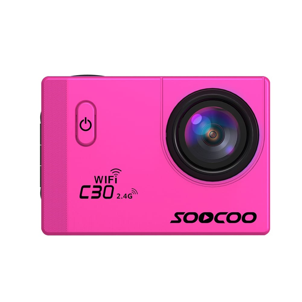 SOOCOO C30R Wifi 4K Sports Action Camera - Gyro 2.0 inch, LCD Screen, 30M Waterproof, Adjustable Angle Pink - 5