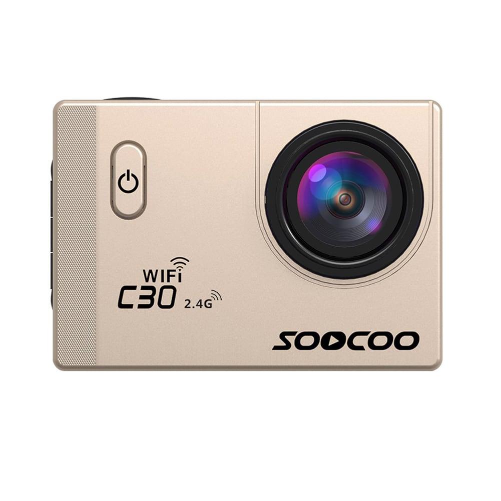 SOOCOO C30R Wifi 4K Sports Action Camera - Gyro 2.0 inch, LCD Screen, 30M Waterproof, Adjustable Angle Yellow - 3