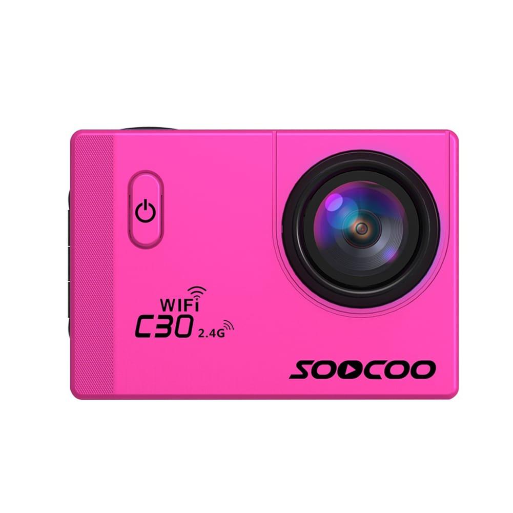 SOOCOO C30R Wifi 4K Sports Action Camera - Gyro 2.0 inch, LCD Screen, 30M Waterproof, Adjustable Angle Yellow - 5