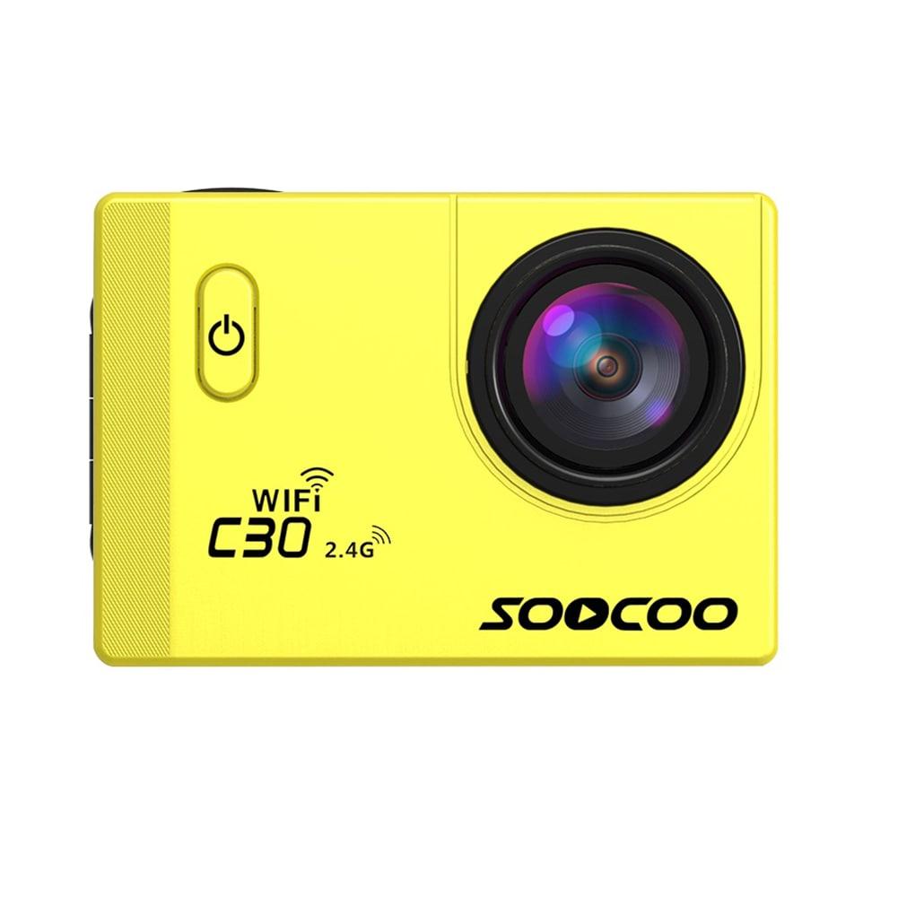 SOOCOO C30R Wifi 4K Sports Action Camera - Gyro 2.0 inch, LCD Screen, 30M Waterproof, Adjustable Angle Yellow - 6