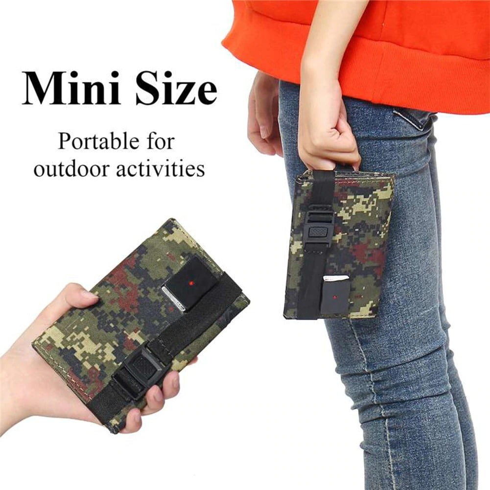 Waterproof Foldable USB Solar Panel Portable Charger 20W Green Camo - 6