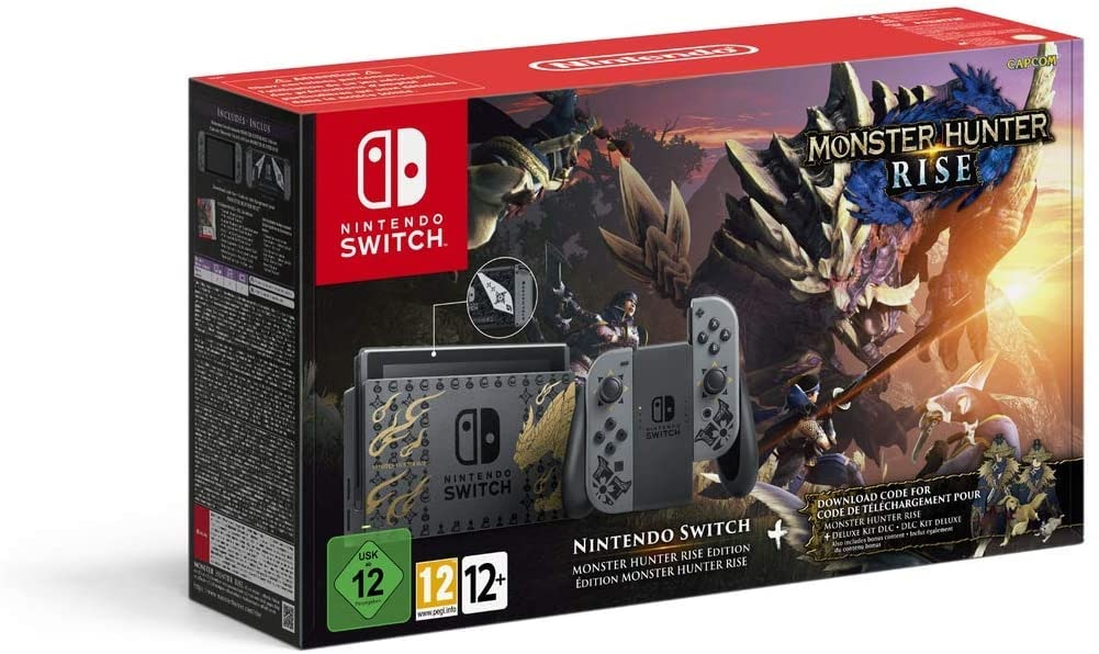 Nintendo Switch V2 Monster Hunter Rise Edition Console Brand new Multi-Color 32 GB Standard - 1