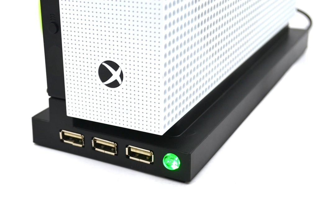 [REYTID] Xbox One Pro Dual Cooling Fan / Stand Combo - 3 USB Ports - All-in-One Sleek Design Cooler - 5