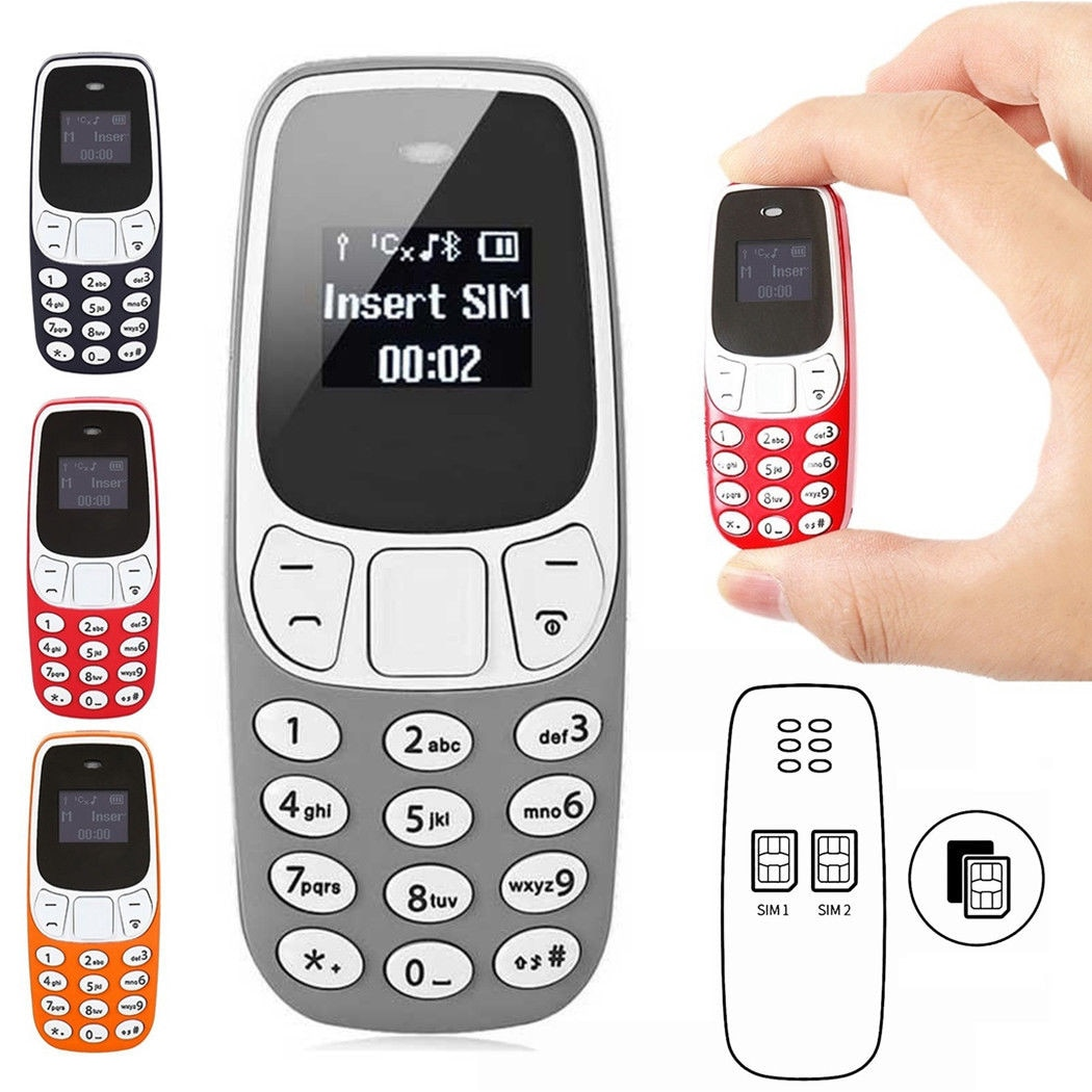 BM10 Pocket Mini GSM Mobile Phone Bluetooth Dialer Headset Cellphone Blue - 2